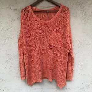 Free People size Medium coral knit sweater